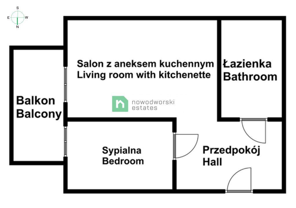 Mieszkanie do wynajęcia Poznań, Jeżyce ul. Zwierzyniecka Nowe, dwupokojowe mieszanie Zwierzyniecka/Jeżyce  floorplan