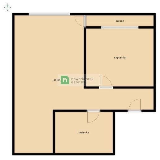 Mieszkanie na sprzedaż Warszawa, Mokotów ul. Niegocińska  Dwupokojowe mieszkanie na Mokotowie  floorplan