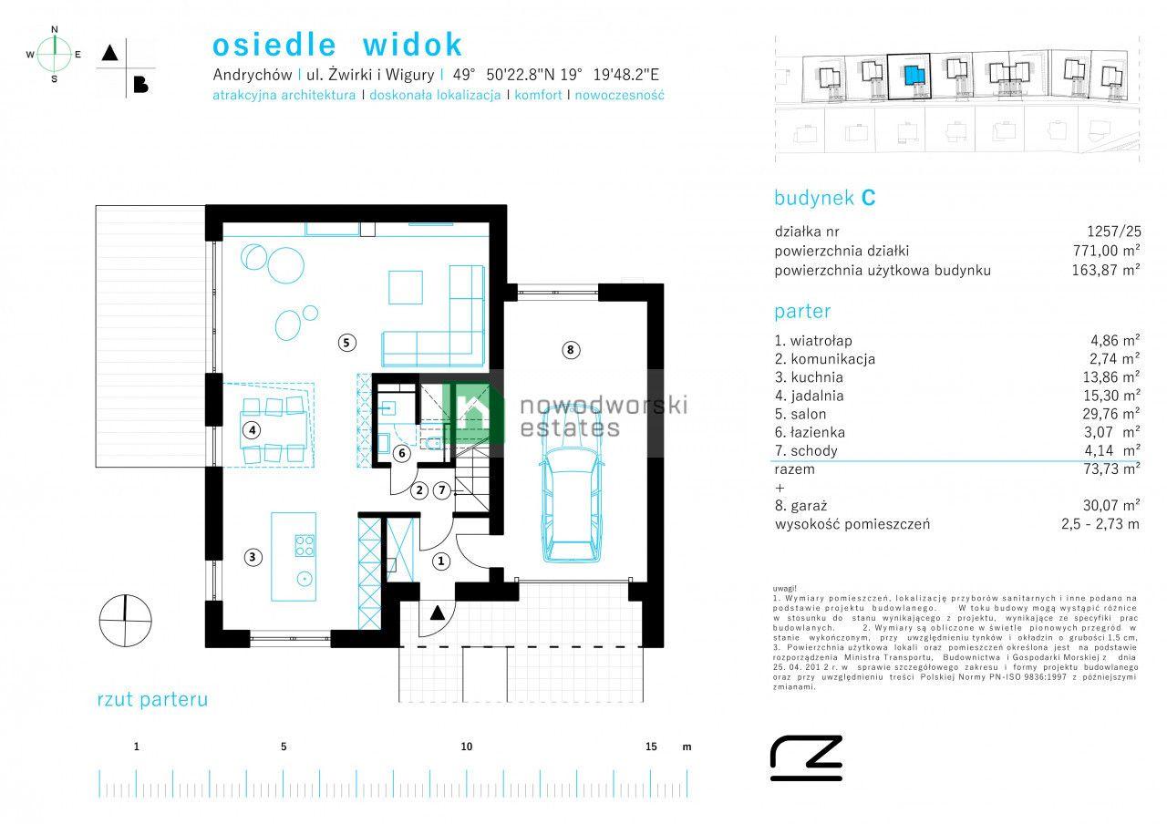 Dom na sprzedaż Wadowicki, Andrychów ul. Żwirki i Wigury Zostały ostatnie domy | 164 mkw | Wysoki standard! floorplan