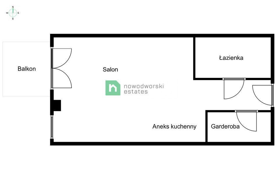 Mieszkanie do wynajęcia Wrocław, Fabryczna ul. Przedmiejska  Kawalerka z balkonem Magnolia Park  floorplan