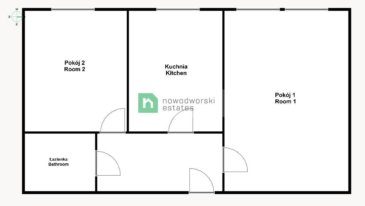 Mieszkanie do wynajęcia Wrocław, Stare Miasto / Szczepin ul. Lubińska WYNAJMĘ / 2 pokoje / przy pl. Strzegomskim floorplan