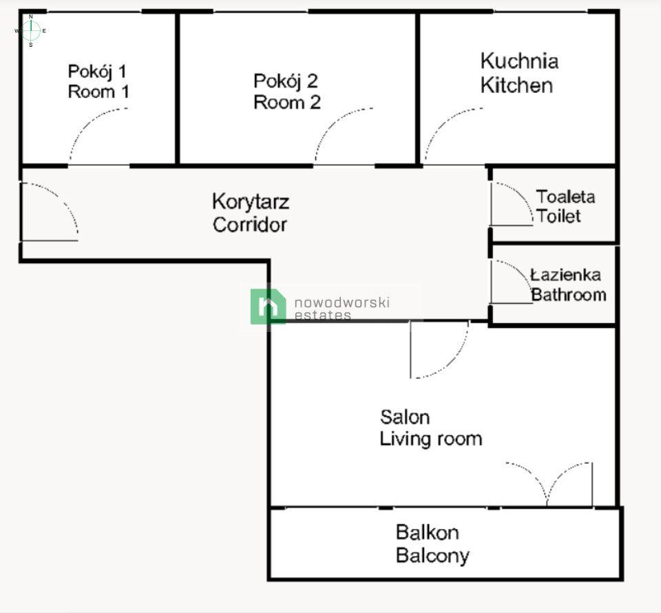 Mieszkanie na sprzedaż Wrocław, Krzyki ul. Krynicka  Przestronne rozkładowe mieszkanie 3 pokojowe | Gaj  floorplan