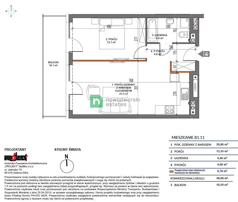 Apartment for Sale Kamieński, Dziwnów Spadochroniarzy Polskich St.  2 rooms apartment one step from the sea 438 120 PLN  floorplan