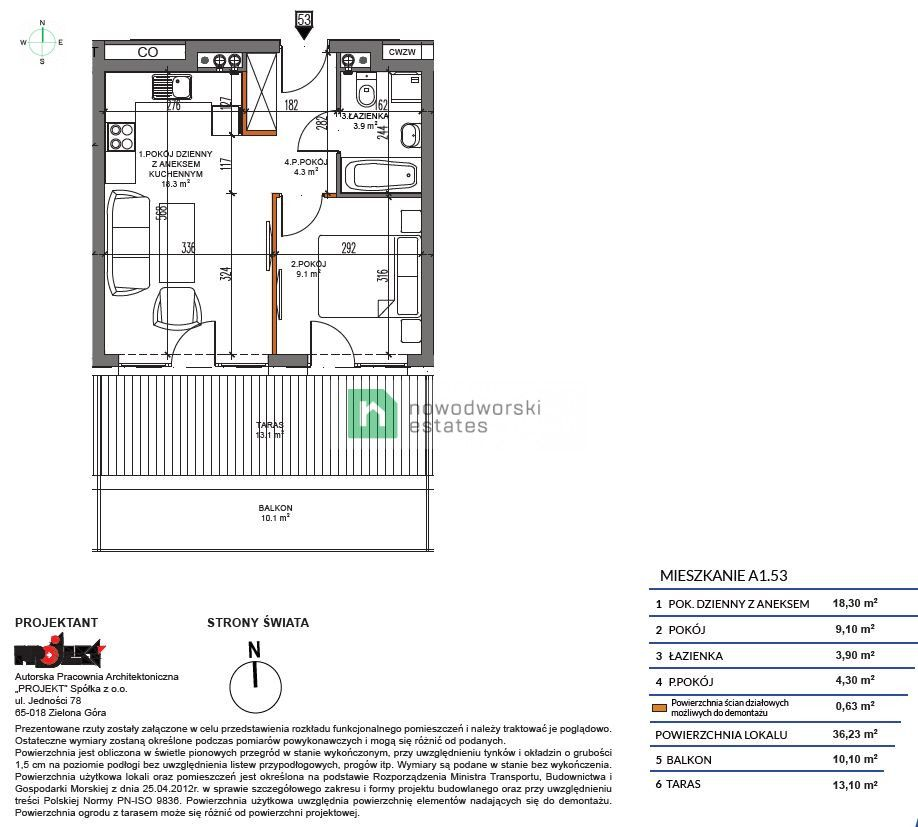 Apartment for Sale Kamieński, Dziwnów Spadochroniarzy Polskich St.  2 rooms apartment one step from the sea 449 252 PLN  floorplan