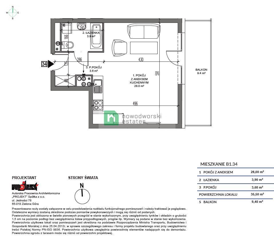 Apartment for Sale Kamieński, Dziwnów Spadochroniarzy Polskich St.  Apartment one step from the sea 379 850 PLN  floorplan