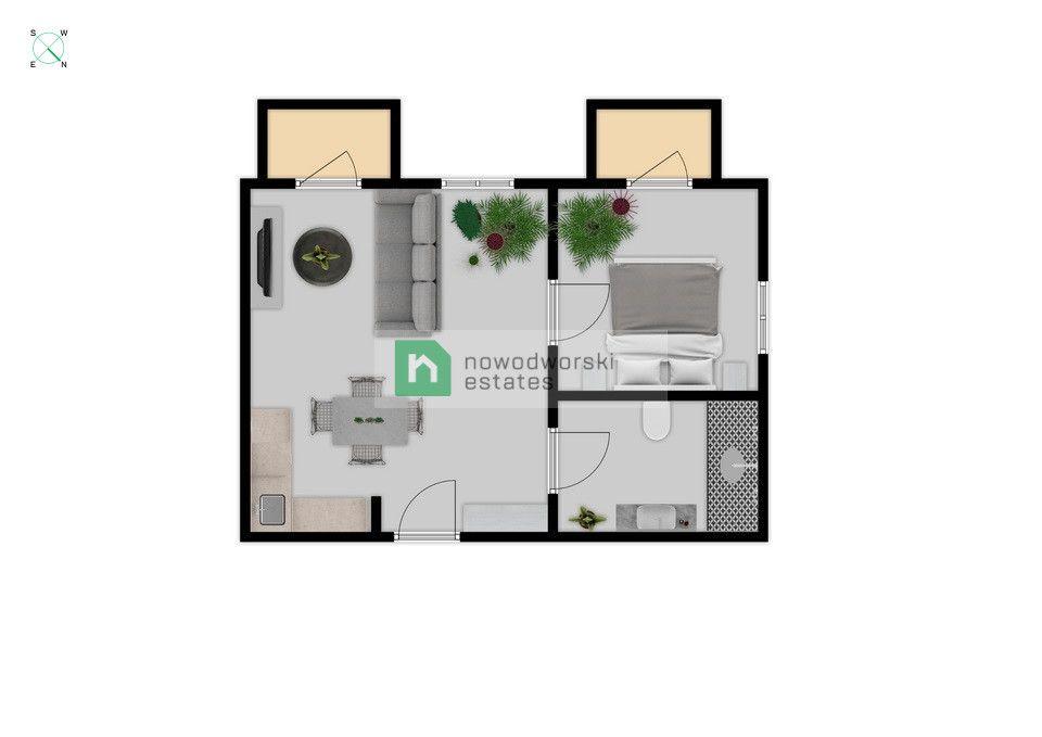 Mieszkanie do wynajęcia Warszawa, Wola ul. Krochmalna Dwupokojowe mieszkanie w Browarach Warszawskich floorplan