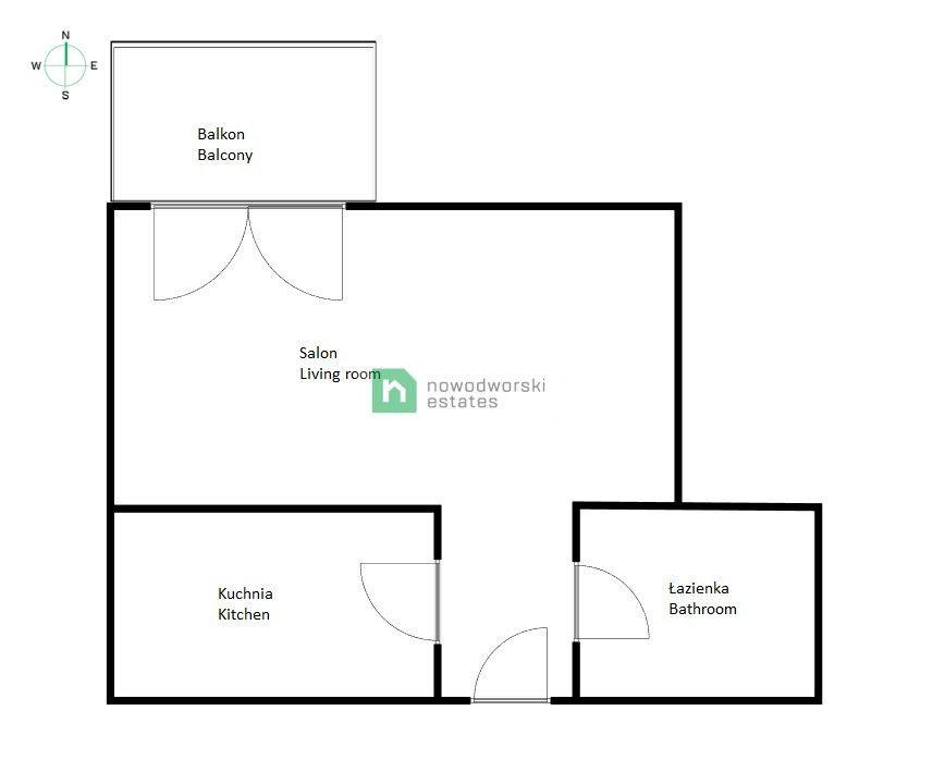 Mieszkanie do wynajęcia Wrocław, Śródmieście ul. Romana Dmowskiego  Kawalerka w nowej inwestycji - centrum miasta !  floorplan