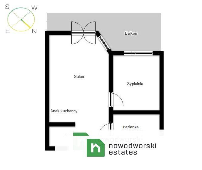 Mieszkanie na sprzedaż Kraków, Krowodrza / Bronowice ul. Józefa Chełmońskiego Dwupokojowe mieszkanie z balkonem przy ul. Chełmońskiego floorplan