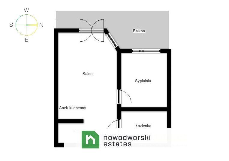Mieszkanie na sprzedaż Kraków, Krowodrza / Bronowice ul. Józefa Chełmońskiego Nowoczesne dwupokojowe mieszkanie przy ul. Chełmońskiego floorplan