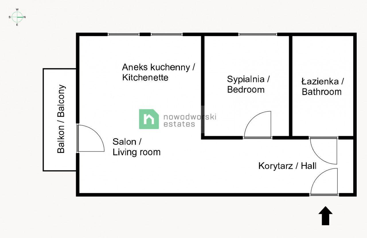 Mieszkanie na sprzedaż Kraków, Krowodrza / Bronowice ul. Sosnowiecka Piękne 2 pok. w wysokim standardzie ! Bronowice floorplan