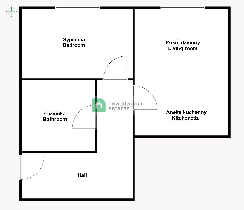 Apartment to Rent Wrocław, Stare Miasto marsz. Józefa Piłsudskiego St. 2 pokoje / Dworzec PKP / Wroclavia / od zaraz floorplan