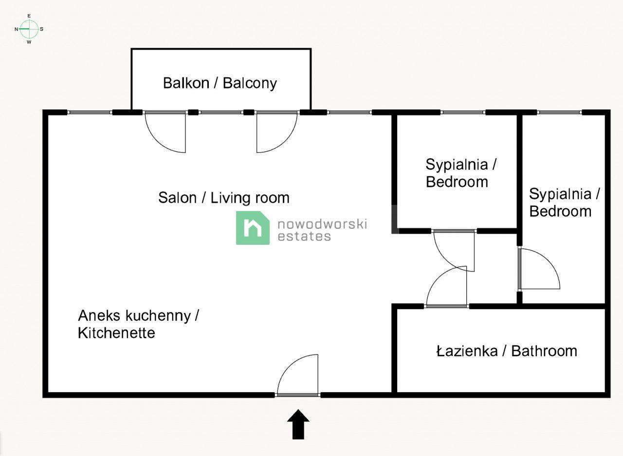 Mieszkanie na sprzedaż Kraków, Krowodrza / Bronowice ul. Eljasza Walerego Radzikowskiego Komfortowe 3 pok. dla rodziny - Bronowice floorplan