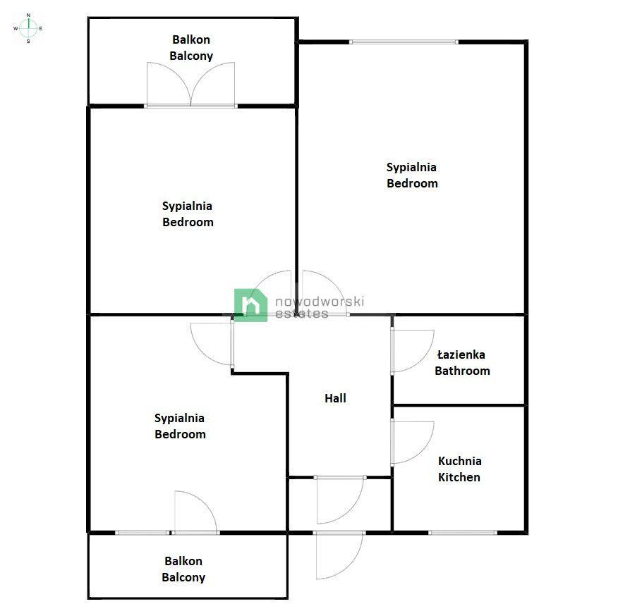 Apartment to Rent Wrocław, Śródmieście / Plac Grunwaldzki Grunwaldzka St. 3 pokoje / Plac Grunwaldzki / od zaraz floorplan
