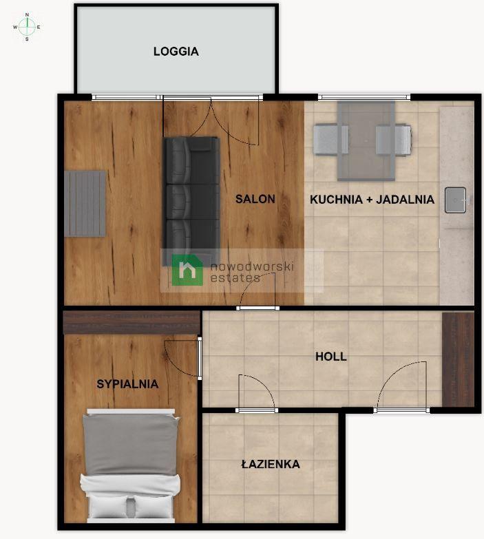 Apartment to Rent Warszawa, Śródmieście / Muranów Inflancka St.  Good standard * 2 rooms * parking * Arkadia  floorplan