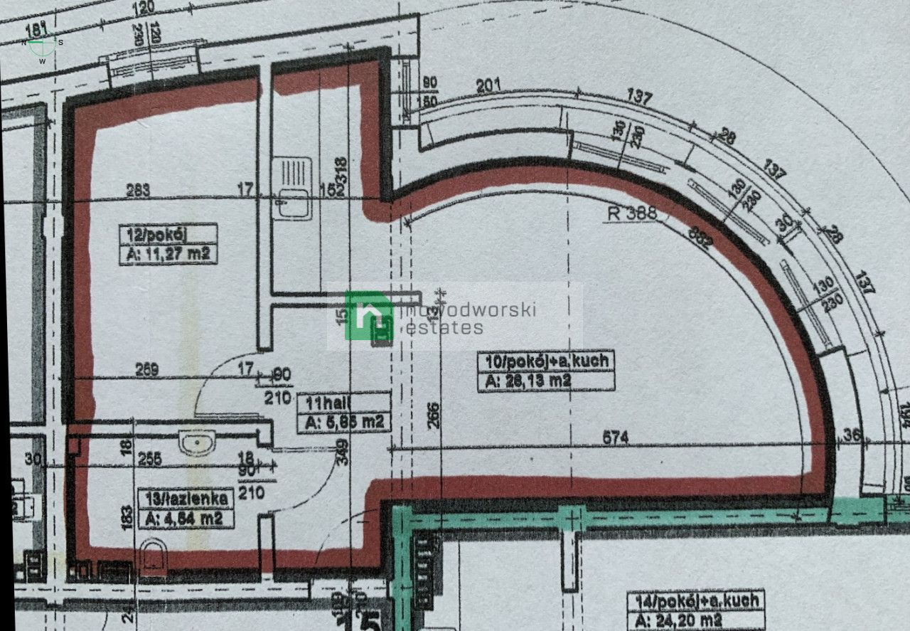 CommercialSpace to Rent Wielicki, Wieliczka Bolesława Limanowskiego St. 2-room commercial space in the center of Wieliczka floorplan