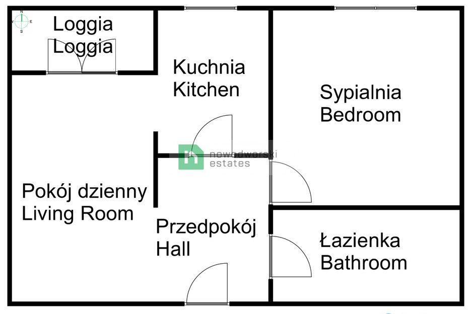 Apartment for Sale Kraków, Podgórze / Dębniki Bułgarska St. A sunny apartment in a modern investment from 2015, Bułgarska street | Dębniki-Ruczaj district  floorplan