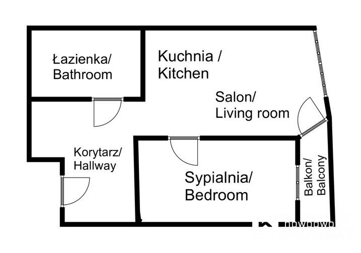 Apartment to Rent Kraków, Ruczaj Bułgarska St. New apartment Kraków, Ruczaj / Bułgarska floorplan