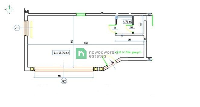 CommercialSpace for Sale Wrocław, Krzyki / Klecina Goleszan St.  Rented premises for sale | 56 m2, Klecina  floorplan