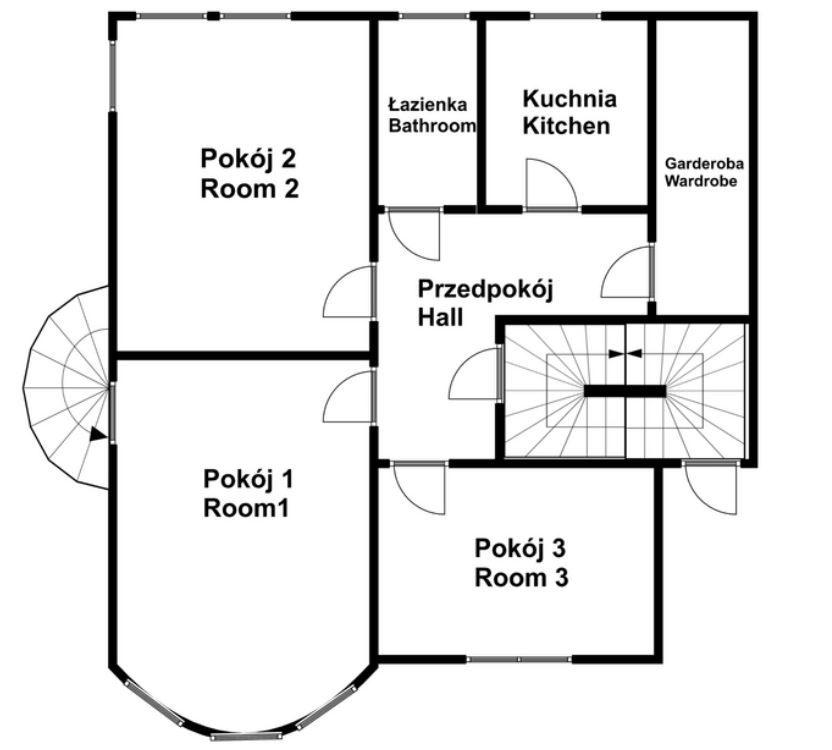 Mieszkanie na sprzedaż Poznań, Grunwald ul. Grunwaldzka Mieszkanie trzypokojowe 104m2 z ogrodem przy ulicy Grunwaldzkiej/Grunwald floorplan