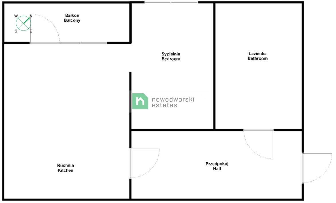 Apartment to Rent Kraków, Ruczaj Raciborska St.  COZY AND BRIGHT TWO ROOM APARTMENT   RUCZAJ   RACIBORSKA  floorplan