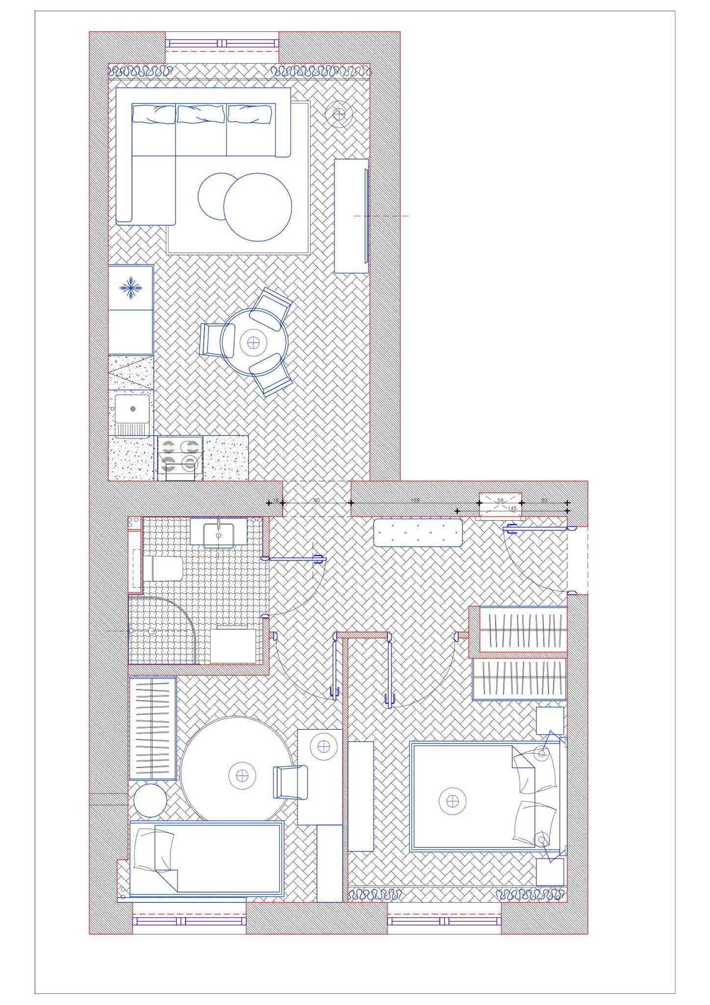 Apartment for Sale Warszawa, Praga-Południe Turbinowa St. Comfy, 3 rooms apartment on Praga Południe floorplan