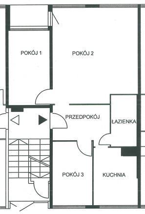 Mieszkanie na sprzedaż Wrocław, Krzyki ul. Komandorska 3 pokoje / rozkład / ul. Komandorska floorplan