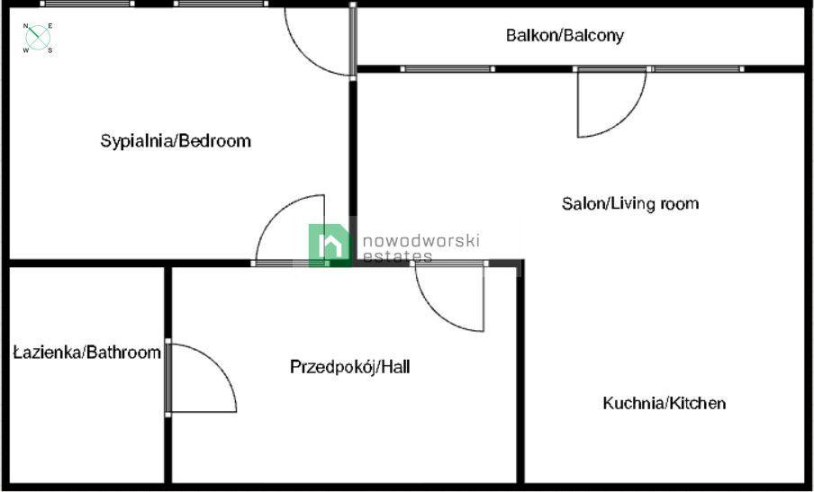 Mieszkanie do wynajęcia Poznań, Grunwald ul. Marcelińska Mieszkanie 2 - pok. na wynajem Poznań/Grunwald floorplan