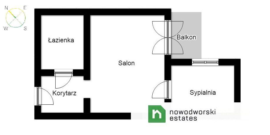 Mieszkanie do wynajęcia Kraków, Krowodrza ul. Józefa Friedleina Przestronne 48m mieszkanie z balkonem ul. Friedleina   floorplan