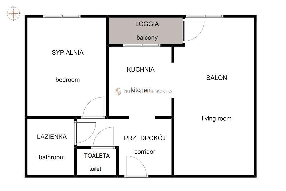 Os. Europejskie, Lubostrón, 47m²: świetne 2 pokoje z loggią blisko Czerwone Maki
