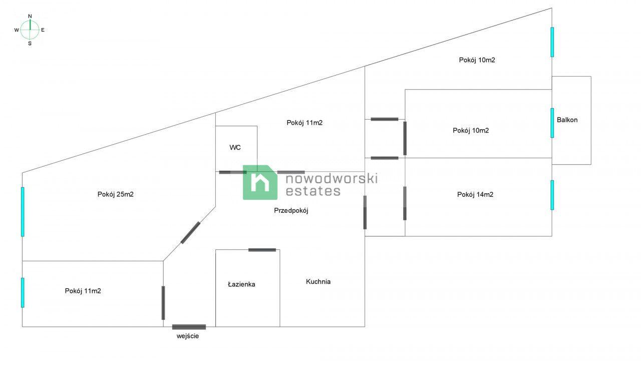 Mieszkanie na sprzedaż Wrocław, Śródmieście ul. Jedności Narodowej  5 pokoi przy Jedności Narodowej (107,55 mkw) w świeżo wyremontowanej kamienicy  floorplan