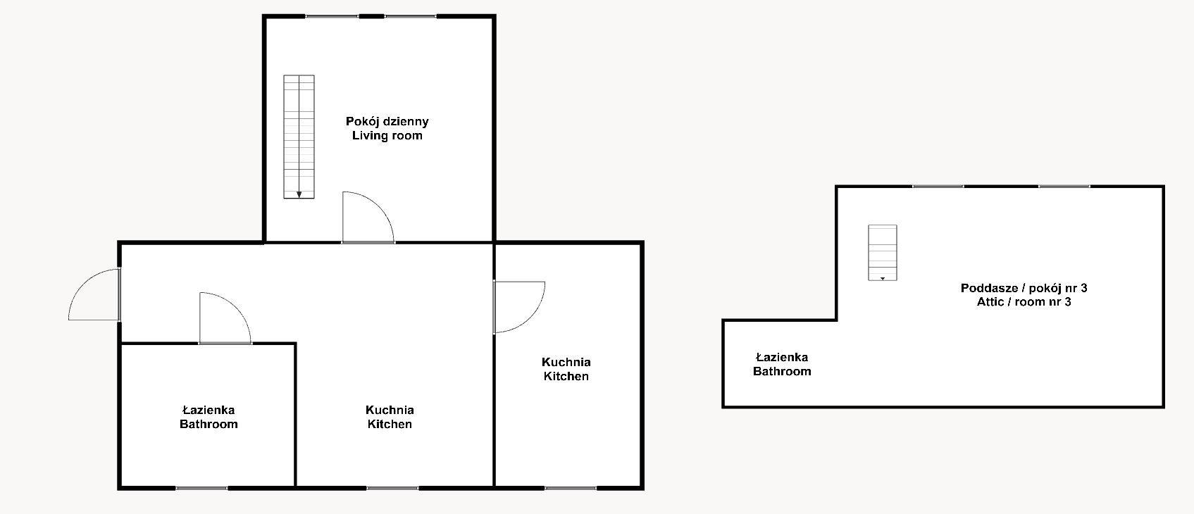 Apartment for Sale Wrocław, Fabryczna Wiejska St. Fabryczna/Oporów - 44 m2 + drugi poziom 20 m2 floorplan