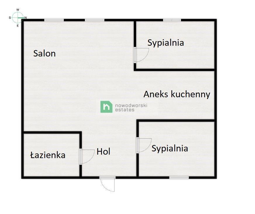 Apartment to Rent Kraków, Śródmieście / Stare Miasto Radziwiłłowska St. Two bedroom near Old City floorplan