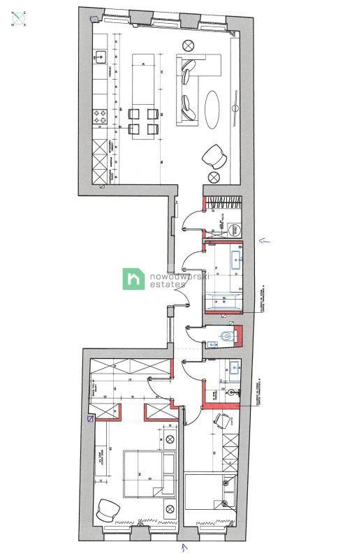 Mieszkanie na sprzedaż Wrocław, Stare Miasto ul. Ruska Apartament w kamienicy w Centrum/ Na sprzedaż floorplan