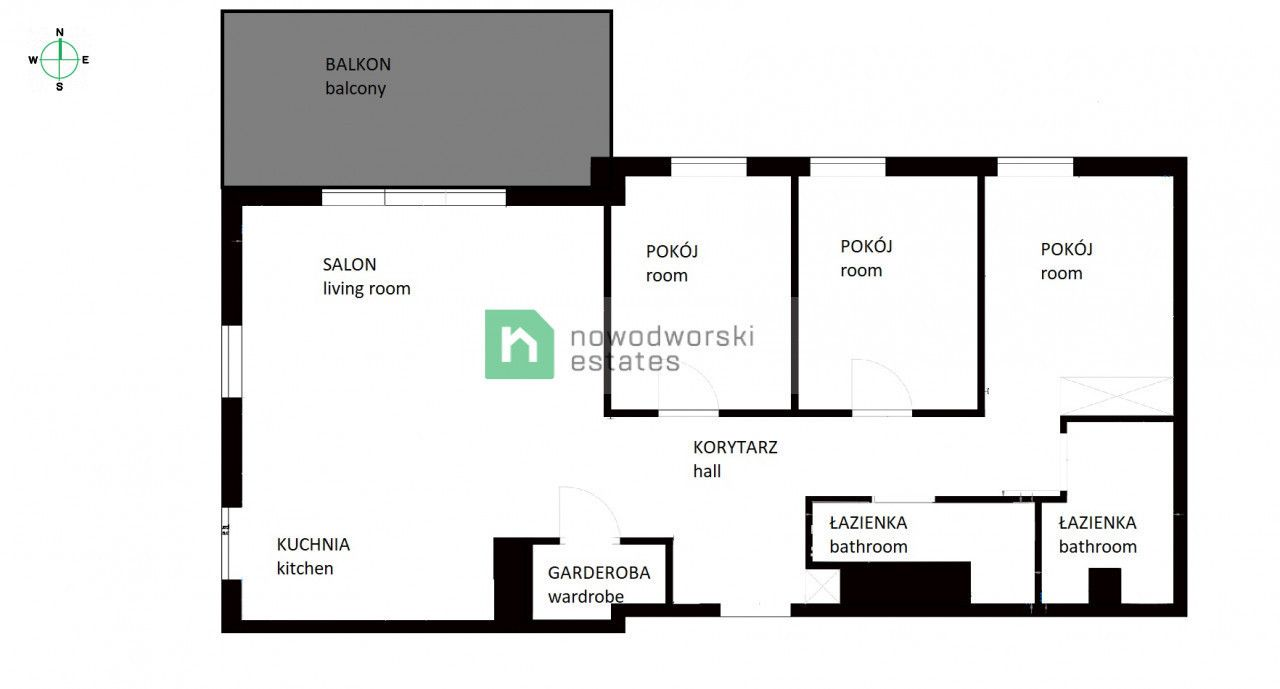 Apartment for Sale Gdańsk, Letnica Sucha St. Apartment Nowa Letnica with a sea view 4 rooms  floorplan
